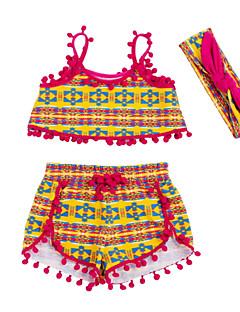 billige Babytøj-Baby Pige Stribet Uden ærmer Tøjsæt