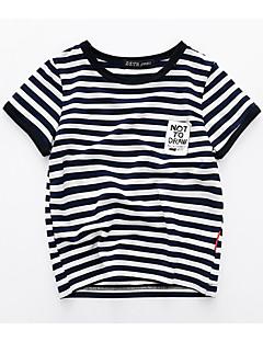 billige Overdele til drenge-Børn Drenge Stribet Kortærmet T-shirt