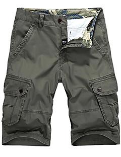 billige Herrebukser og -shorts-Herre Aktiv Grunnleggende Chinos Bukser Ensfarget