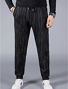 billige Herrebukser og -shorts-Herre Grunnleggende Chinos Bukser - Trykt mønster, Stripet