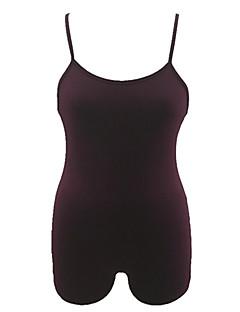 billige Jumpsuits og sparkebukser til damer-Dame Grunnleggende Sparkedrakter - Ensfarget, Åpen rygg