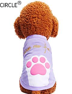 billiga Hundkläder-Hund / Katt / Husdjur T-shirt Hundkläder Tryck / Citat och ordspråk / Tecknat Purpur / Rosa Cotton Kostym För husdjur Herr Ledigt /