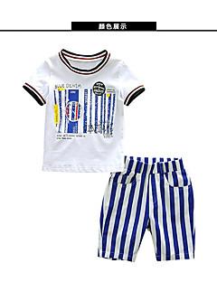 billige Tøjsæt til drenge-Børn Drenge Stribet Trykt mønster Kortærmet Tøjsæt