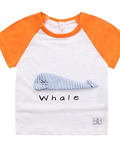 billige Overdele til drenge-Børn / Baby Drenge Stribet / Patchwork Kortærmet T-shirt