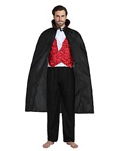 billige Voksenkostymer-Vampyrer Kostume Unisex Halloween Halloween Karneval Barnas Dag Festival / høytid Drakter Svart Ensfarget Halloween