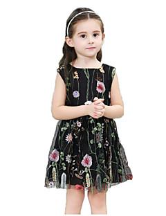billige Pigekjoler-Børn Baby Pige Blomstret Uden ærmer Kjole