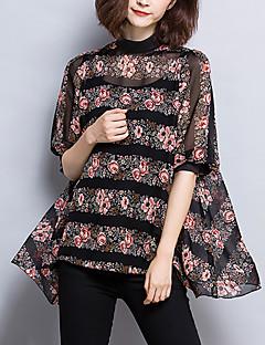 billige Bluse-Dame - Blomstret Trykt mønster Bluse