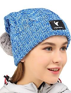 billige Clothing Accessories-VEPEAL Turcaps Hatt Hold Varm Stretch Vinter Grå Dame Vandring Reise Vintersport Ensfarget Voksne / Elastisk