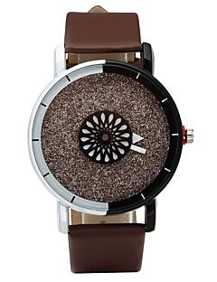 ieftine Ceasuri de Cupluri-Pentru cupluri Quartz Ceas de Mână Ceas Casual PU Bandă Modă Negru Alb Maro