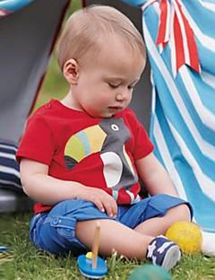 billige Overdele til drenge-Børn / Baby Drenge Flamingos Patchwork Kortærmet T-shirt