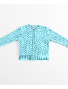 billige Overtøj til babyer-Baby Unisex Ensfarvet Langærmet Jakkesæt og blazer