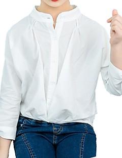 billige Pigetoppe-Børn Pige Blå & Hvid Stribet Langærmet Skjorte
