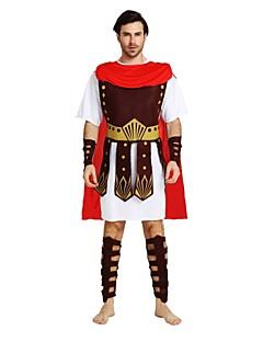 billige Halloweenkostymer-Soldat / Kriger Drakter Herre Halloween / Karneval / De dødes dag Festival / høytid Halloween-kostymer Brun Ensfarget / Halloween