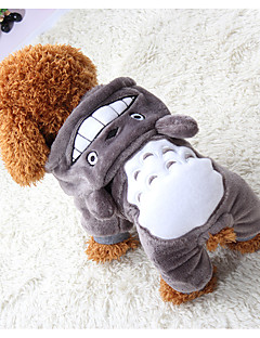 billiga Hundkläder-Hund / Katt / Husdjur Tröja Hundkläder Enfärgad / Pläd / Rutig / Kanin Grå Cotton Kostym För husdjur Herr One Piece / Ledigt / vardag