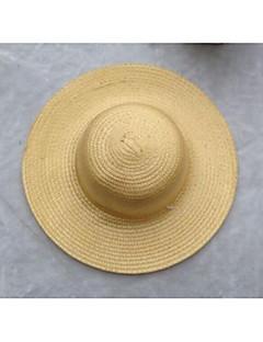 billige Trendy hatter-Unisex Kontor Ferie Stråhatt Ensfarget