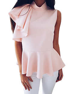 billige Damemode og tøj-Dame - Ensfarvet Basale / Gade T-shirt