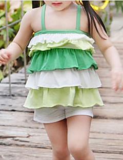 billige Tøjsæt til piger-Baby Pige Ensfarvet / Farveblok Uden ærmer Tøjsæt