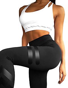 billiga Träning-, jogging- och yogakläder-Dam Yoga byxor sporter Hög midja Leggings Löpning, Gym Sportkläder Andningsfunktion Elastisk
