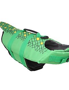 billiga Hundkläder-Hund Livväst Hundkläder Enfärgad Blommig / Botanisk Jägergrön Vattentätt Material Terylen Kostym För husdjur Djurmönstrad Minimalistisk