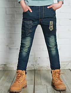 billige Drengebukser-Børn Drenge Trykt mønster Farveblok Jeans