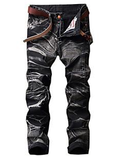 billige Herrebukser og -shorts-Herre Vintage Grunnleggende Chinos Jeans Bukser Stripet Fargeblokk Kamuflasje
