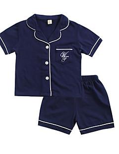 billige Undertøj og sokker til piger-Baby Pige Farveblok Nattøj