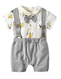 billige Babytøj-Baby Unisex Ensfarvet / Trykt mønster / Farveblok Kort Ærme Overall og jumpsuit