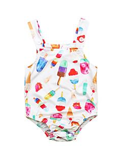 billige Badetøj til piger-Baby Unisex Blomstret Uden ærmer Badetøj