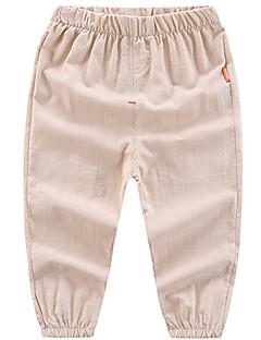 billige Bukser og leggings til piger-Børn Pige Drenge Ensfarvet Bukser