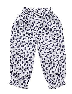 billige Bukser og leggings til piger-Baby Pige Blå & Hvid Trykt mønster Bukser