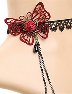 billiga Lolitamode-Gotiskt Svart lolita tillbehör Vintage / Spets Halsband Spets