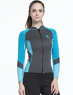 f0457775bd Mujer Camisa de neopreno 2mm Neopreno Trajes de buceo   Top Manga Larga  Natación   Buceo   Surfing Retazos Primavera