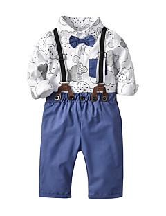 billige Tøjsæt til drenge-Baby Drenge Trykt mønster 3/4-ærmer Tøjsæt