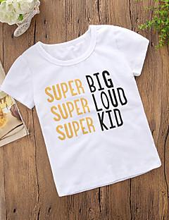 billige Pigetoppe-Børn Pige Trykt mønster Kortærmet T-shirt
