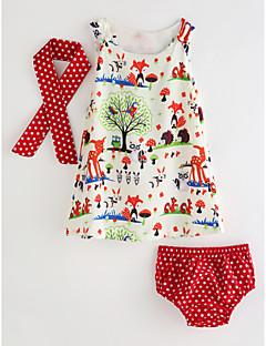 billige Tøjsæt til piger-Baby Pige Blomstret Uden ærmer Tøjsæt