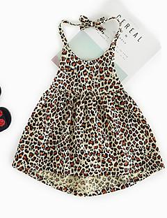 billige Babytøj-Baby Pige Leopard Uden ærmer Kjole