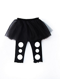 billige Babyunderdele-Baby Pige Aktiv Ensfarvet / Farveblok Bukser