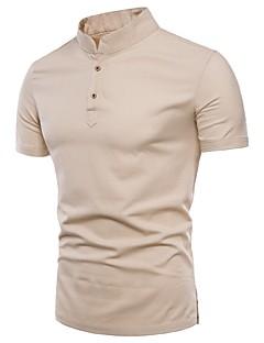 Χαμηλού Κόστους Feel Oriental-Ανδρικά Μεγάλα Μεγέθη T-shirt Βασικό - Βαμβάκι Μονόχρωμο Όρθιος Γιακάς Λεπτό / Κοντομάνικο