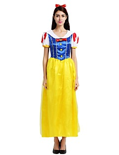 billige Voksenkostymer-Prinsesse Kostume Unisex Halloween Karneval Barnas Dag Nytt År Festival / høytid Drakter Gul Ensfarget Halloween