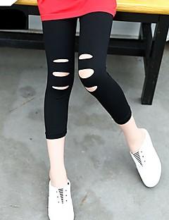billige Bukser og leggings til piger-Børn Pige Ensfarvet Leggings