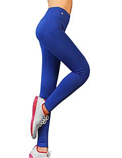 billiga Träning-, jogging- och yogakläder-Dam Yoga byxor - Svart, Blå, Grå sporter Mode Elastan Hög midja Byxa / Cykling Tights Löpning, Fitness, Gym Sportkläder Snabb tork, Andningsfunktion, Kompression Hög Elasisitet