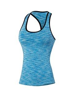 billige Løbetøj-Dame T-shirt til træning Uden ærmer Letvægt, Hurtig Tørre, Strækkende Tank Tops for Pilates / Træning & Fitness / Udendørs Træning