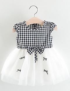 billige Pigetoppe-Baby Pige Ruder Kortærmet Bluse