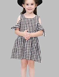billige Pigekjoler-Børn Pige Ruder Uden ærmer Kjole