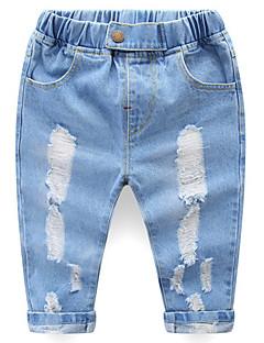 billige Bukser og leggings til piger-Baby Unisex Ensfarvet Jeans