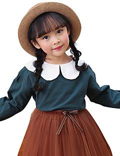billige Pigetoppe-Børn Pige Patchwork Langærmet Bluse