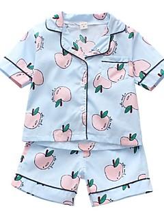 billige Tøjsæt til drenge-Børn Unisex Trykt mønster Kortærmet Tøjsæt