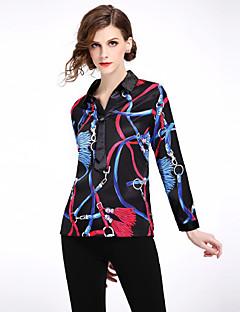 Χαμηλού Κόστους Μπλούζες-Γυναικεία Πουκάμισο Ενεργό Γεωμετρικό Στάμπα