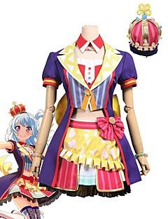"""billige Anime cosplay-Inspirert av BanG Dream Cosplay Anime  """"Cosplay-kostymer"""" Cosplay Klær Annen Kortermet Frakk / Topp / Skjørte Til Unisex Halloween-kostymer"""