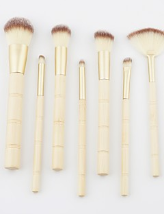 billiga Sminkborstar-7 st Makeupborstar Professionell Borstsatser / Rougeborste / Ögonskuggsborste Nylon fiber Mjuk / Fullständig Täckning Trä / Bambu